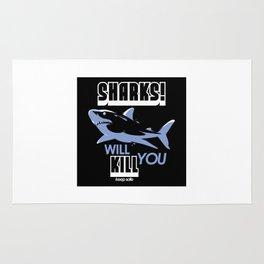 Sharks Will Kill You Rug