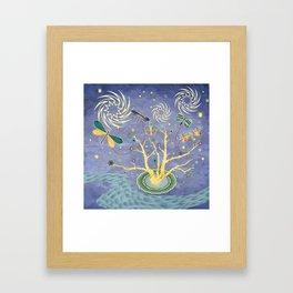 Nite Kites Framed Art Print