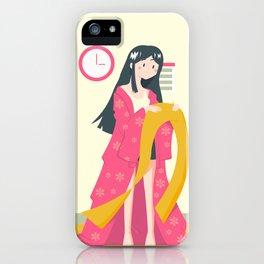 Japanese Culture - preparing for summer festivals iPhone Case
