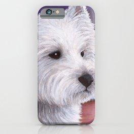 White Westie Dog iPhone Case
