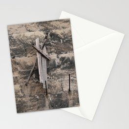 Drift wood on the stone wall Stationery Cards