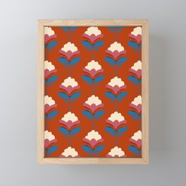 Retro fall florals- n. 3 Framed Mini Art Print