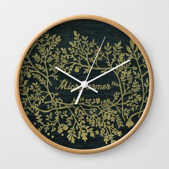 Microfarmer - Gold Wall Clock