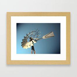 north Texas windmill Framed Art Print