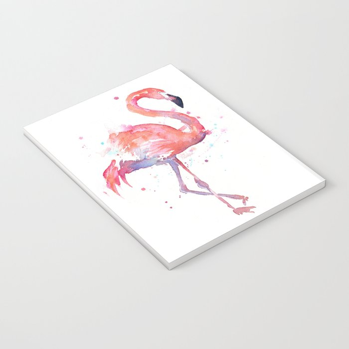 Flamingo Watercolor Notebook