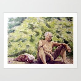 Papa, miss you! Art Print