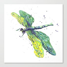 Dragonfly - Green Goddess Canvas Print