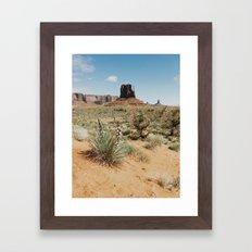 Blooming Southwest Desert Yucca Framed Art Print