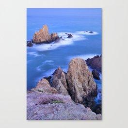 """Sirenas azules. Blue mermaids"" Canvas Print"
