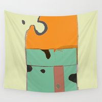 cheese Wall Tapestries featuring THE CHEESE by  ECOLARTE