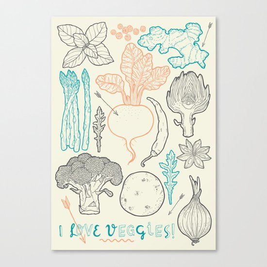 I love vegetables! Canvas Print