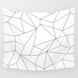 Mountain Grid Gradient Black Wall Tapestry