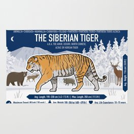 The Wild Ones: Siberian Tiger (info) Rug