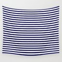 Navy Blue & White Maritime Small Stripes - Mix & Match with Simplicity of Life by simplicity_of_live