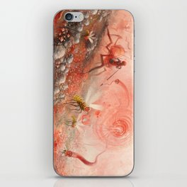 Happy Alien Bob Ross and the Happy Bobby Monster iPhone Skin