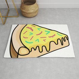 Pizza Code Toppings Rug
