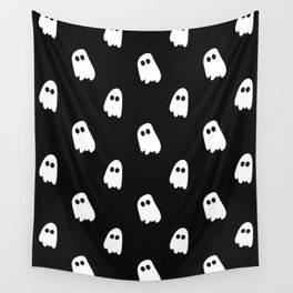 Black and White Ghosts Wall Tapestry