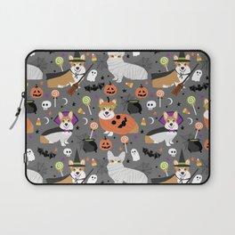 Corgi halloween costume ghost mummy vampire howl-o-ween dog gifts Laptop Sleeve