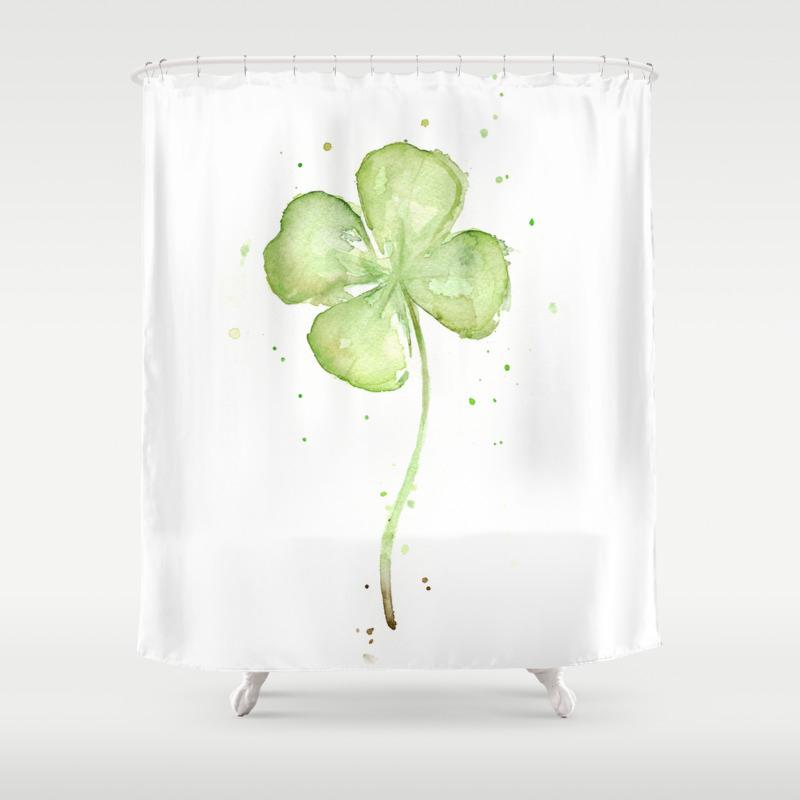 Fantastic Shamrock Shower Curtain Images - Bathtub for Bathroom ...