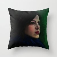 regina mills Throw Pillows featuring Regina Mills by LindaMarieAnson
