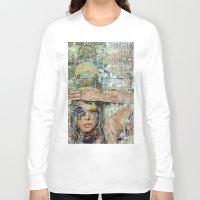 ice cream Long Sleeve T-shirts featuring Ice Cream by Katy Hirschfeld