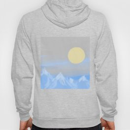Rising Moon Above The Mountains (Coloured) Hoody