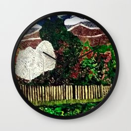 Farming in the Mountains Wall Clock