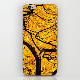 Golden Veins Of Autumn iPhone Skin
