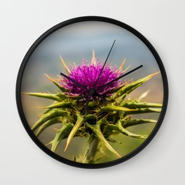 Milk Thistle Wall Clock