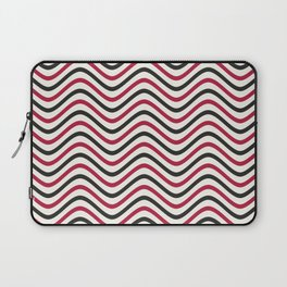 The Wave:  Red + Black Laptop Sleeve