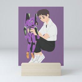 Shinji & Unit-01 Mini Art Print
