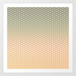 Geometric Melon Pattern Art Print
