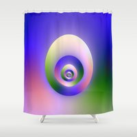 egg Shower Curtains featuring Egg by Objowl