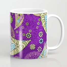 Colorful Butterflies and Flowers V5 Coffee Mug