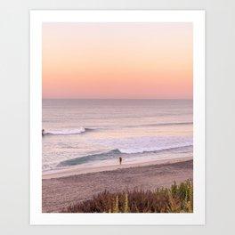 Sunrise Surfer Art Print