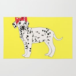 Political Pup - When We All Vote Dalmatian Rug