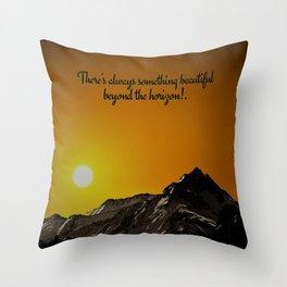 Beyond The Horizon Throw Pillow