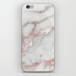 Rose Gold Marble iPhone Skin