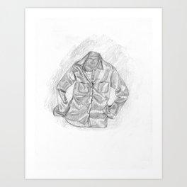 Chambray Shirt Art Print