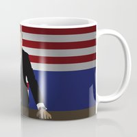 house of cards Mugs featuring House Of Cards - Frank Underwood by Tom Storrer