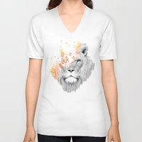 king V-neck T-shirts featuring If I roar (The King Lion) by Picomodi
