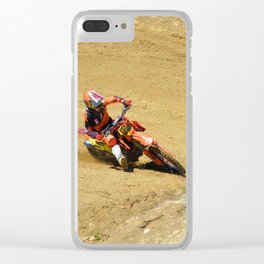 Turning Point Motocross Champion Race Clear iPhone Case