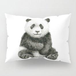 Panda Baby Watercolor Pillow Sham