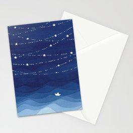 Garland of Stars IV, night sky Stationery Cards