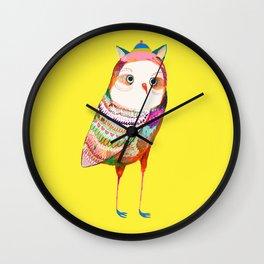 Pretty Owl. Kids decor - nursery decor - owl art Wall Clock