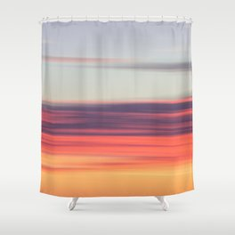 Abstract Sunrise Shower Curtain
