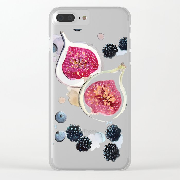 Figs and Berries Clear iPhone Case
