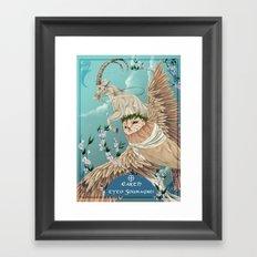 Solarowls Earth Framed Art Print