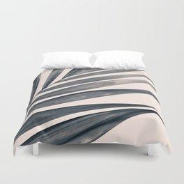 Gray Palm #1 Duvet Cover