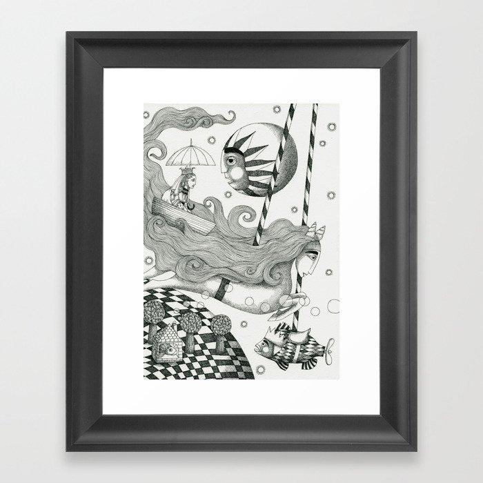 East of Blue Lake Framed Art Print